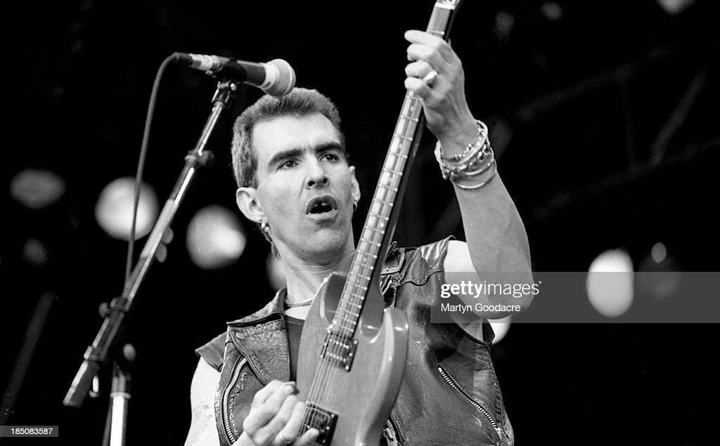 Justin Sullivan of New Model Army performs on stage Spain 1994
