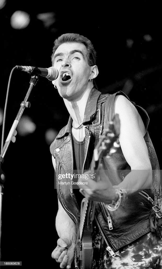 Justin Sullivan of New Model Army performs on stage, Spain, 1994.