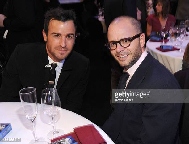 Justin Theroux and Damon Lindelof attend 'Howard Stern's Birthday Bash' presented by SiriusXM produced by Howard Stern Productions at Hammerstein...