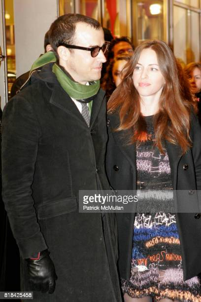 Justin Theroux and Heidi Bivens attend Opening Night of Present Laughter at American Airlines Theater on January 21 2010 in New York City