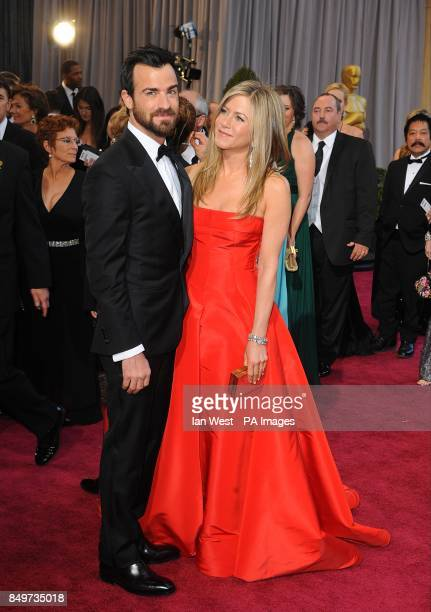 Justin Theroux and Jennifer Aniston arriving for the 85th Academy Awards at the Dolby Theatre Los Angeles