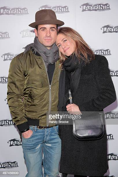 Justin Theroux and Jennifer Aniston attend the Celebrity Charades Goes Medieval Gala 2015 at Capitale on November 16 2015 in New York City