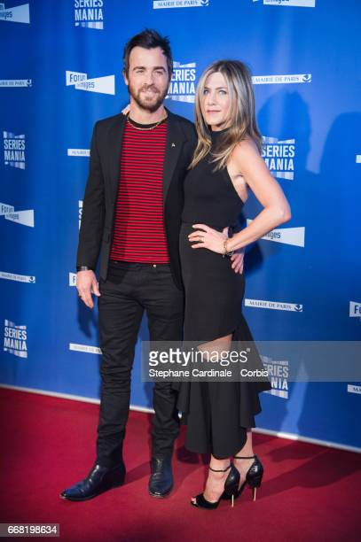 Justin Theroux and Jennifer Aniston attend the Festival Serie Mania Opening Night at Le Grand Rex on April 13 2017 in Paris France