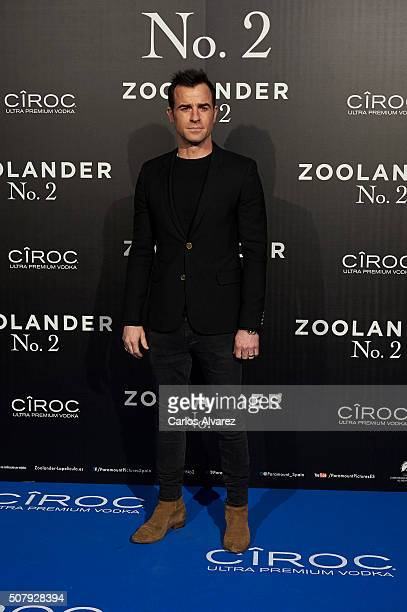 Justin Theroux attends the Madrid Fan Screening of the Paramount Pictures film 'Zoolander No 2' at the Capitol Theater on February 1 2016 in Madrid...