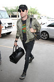 Justin Theroux is seen at LAX on October 28 2015 in Los Angeles California
