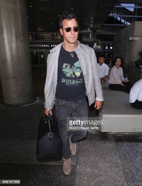 Justin Theroux is seen at LAX on September 12 2017 in Los Angeles California
