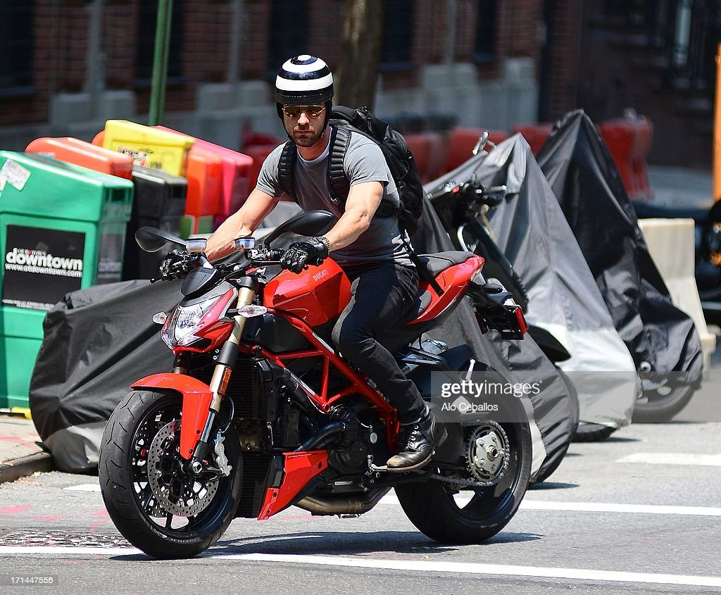 Justin Theroux is seen in Soho on June 24, 2013 in New York City.