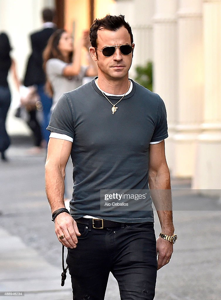 Justin Theroux is seen in Soho on September 18 2015 in New York City