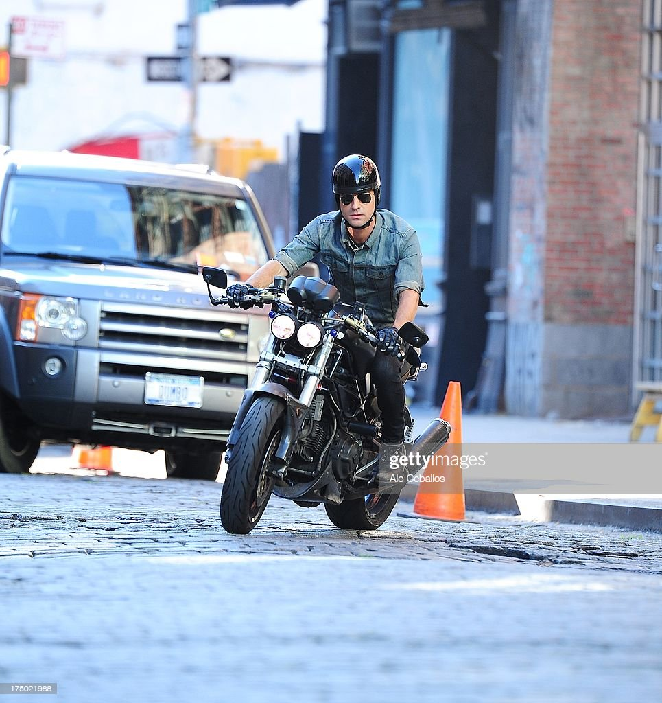 Justin Theroux is seen in the East Village on July 29, 2013 in New York City.