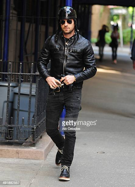 Justin Theroux is seen in the West Village on May 17 2014 in New York City