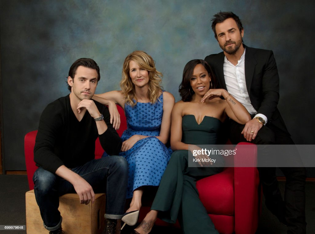 Justin Theroux, Laura Dern, Milo Ventimiglia, Regina King are photographed for Los Angeles Times on April 28, 2017 in Los Angeles, California. PUBLISHED IMAGE.