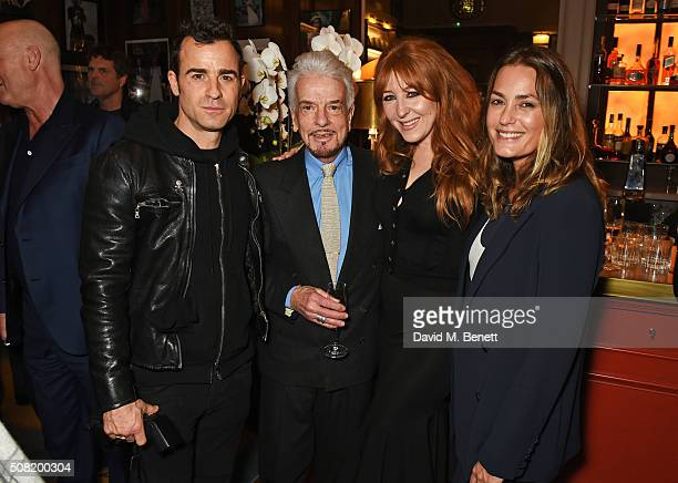 Justin Theroux Nicky Haslam Charlotte Tilbury and Yasmin Le Bon attend the launch of 'The Night Before BAFTA' by Charles Finch at Maison Assouline on...