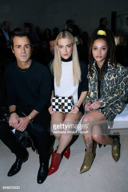 Justin Theroux Riley Keough and Sasha Lane attend the Louis Vuitton show as part of the Paris Fashion Week Womenswear Fall/Winter 2017/2018 on March...