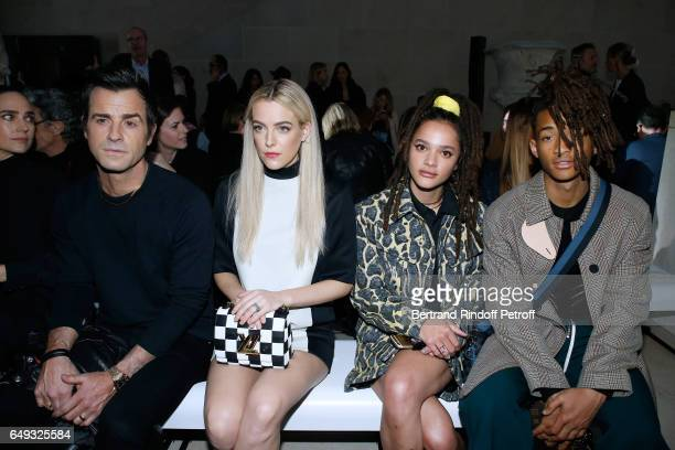 Justin Theroux Riley Keough Sasha Lane and Jaden Smith attend the Louis Vuitton show as part of the Paris Fashion Week Womenswear Fall/Winter...