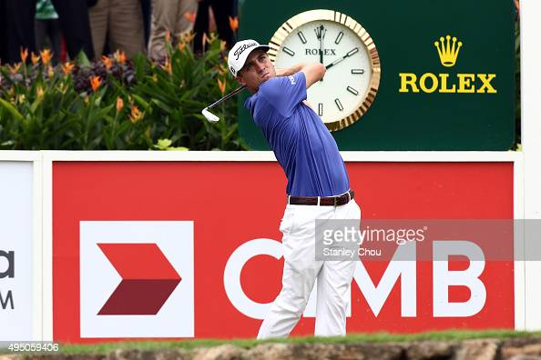Justin Thomas of the United States tees off on the 15th hole during round three of the CIMB Classic at Kuala Lumpur Golf Country Club on October 31...