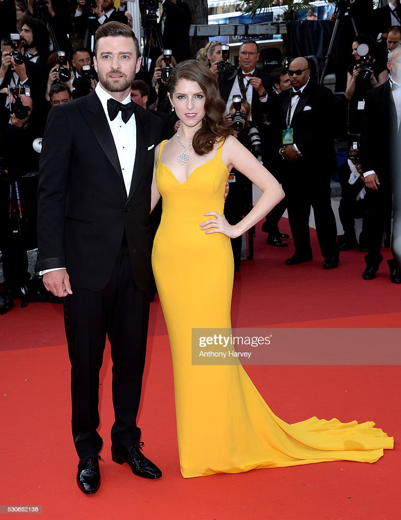 Justin Timberlake and Anna Kendrick attend the 'Cafe Society' premiere and the Opening Night Gala during the 69th annual Cannes Film Festival at the Palais des Festivals on May 11, 2016 in Cannes, France.