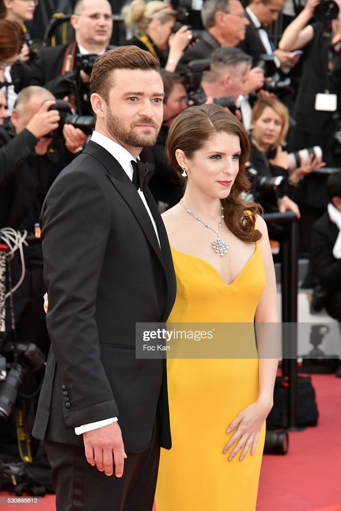 Justin Timberlake and Anna Kendrick attend the screening of 'Cafe Society' at the opening gala of the annual 69th Cannes Film Festival at Palais des Festivals on May 11, 2016 in Cannes, France.