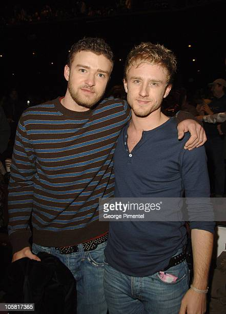 Justin Timberlake and Ben Foster during 2006 Sundance Film Festival 'Alpha Dog' Premiere Arrivals at The Eccles in Park City Utah United States