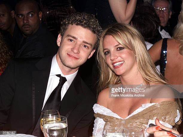 Justin Timberlake and Britney Spears at the 27th Annual Clive Davis PreGrammy party at the Beverly Hills Hotel in Los Angeles Ca 2/26/02 Photo by...