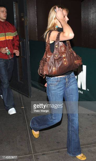 Justin Timberlake and Cameron Diaz during Celebrities at Gwen Stefani Concert at Madison Square Garden November 1 2005 at Madison Square Garden in...