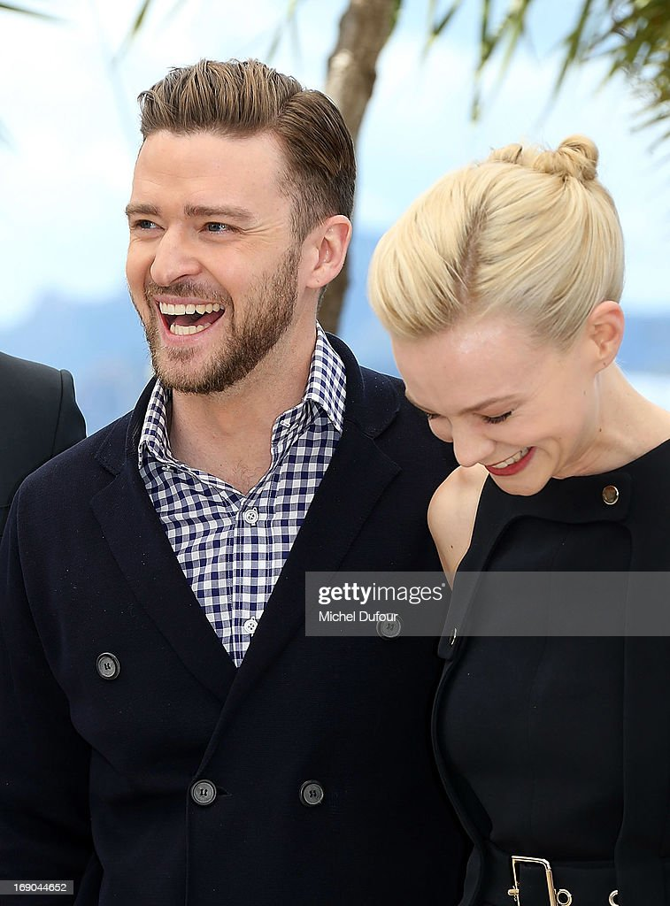Justin Timberlake and Carey Mulligan attend the 'Inside Llewyn Davis' photocall during the 66th Annual Cannes Film Festival at the Palais des Festivals on May 19, 2013 in Cannes, France.