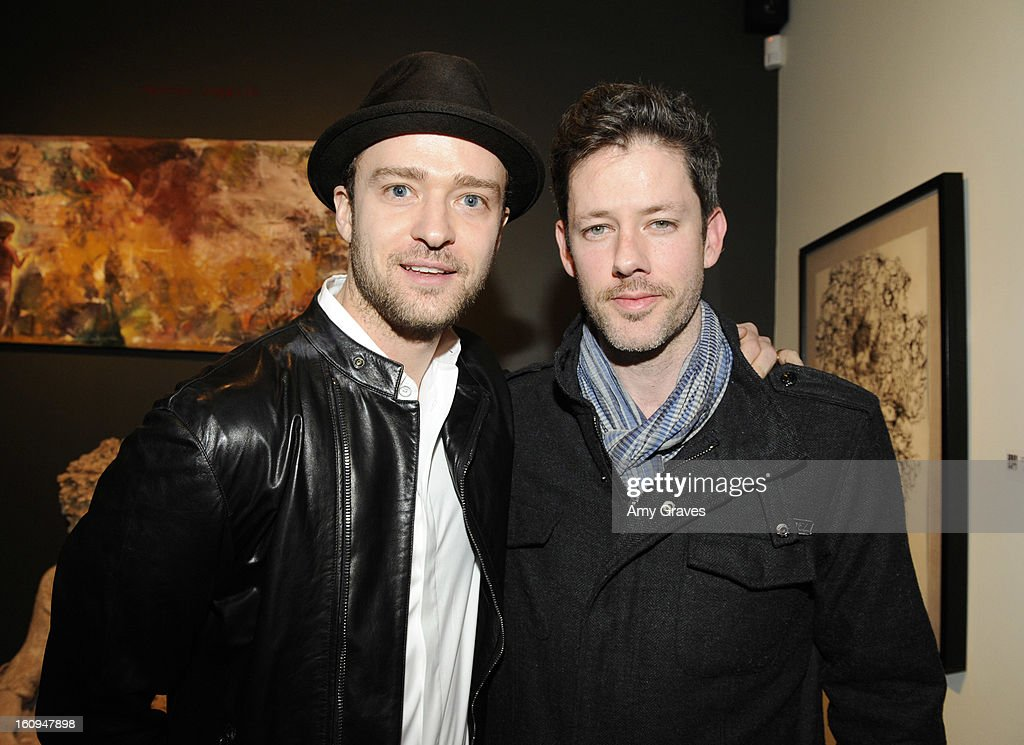 Justin Timberlake and Darren Le Gallo attend Darren Le Gallo's 'Nothing You Don't Know' Exhibition hosted by Trigg Ison Fine Art, Amy Adams and Justin Timberlake at Trigg Ison Fine Arts Gallery on February 7, 2013 in West Hollywood, California.