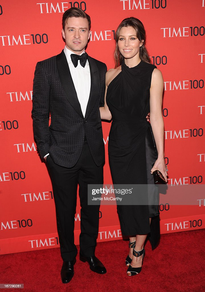 Justin Timberlake and Jessica Biel attend the 2013 Time 100 Gala at Frederick P. Rose Hall, Jazz at Lincoln Center on April 23, 2013 in New York City.
