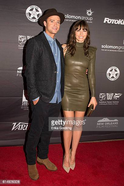 Justin Timberlake and Jessica Biel attend 'The Book of Love' premiere during the 2016 New Orleans Film Festival at Entergy Giant Screen Theater on...