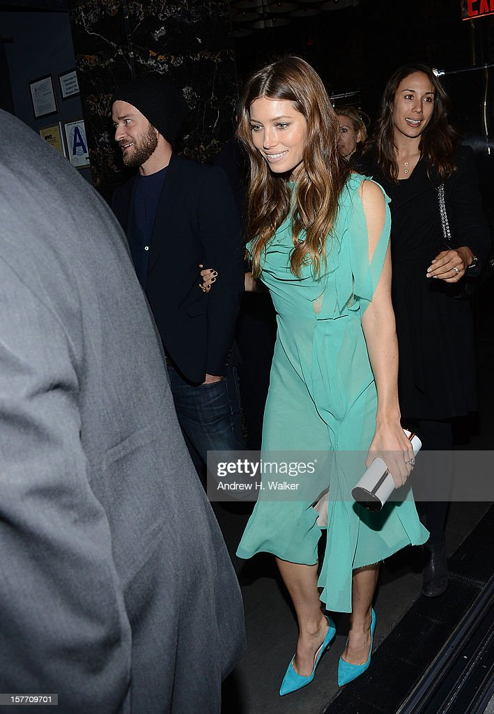 Justin Timberlake and Jessica Biel attend the Film District and Chrysler with The Cinema Society premiere of 'Playing For Keeps' after party at Dream Downtown on December 5, 2012 in New York City.
