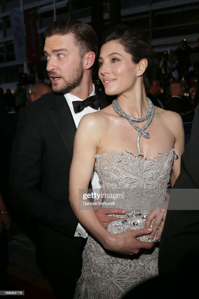 <a gi-track='captionPersonalityLinkClicked' href=/galleries/search?phrase=Justin+Timberlake&family=editorial&specificpeople=157482 ng-click='$event.stopPropagation()'>Justin Timberlake</a> and <a gi-track='captionPersonalityLinkClicked' href=/galleries/search?phrase=Jessica+Biel&family=editorial&specificpeople=203011 ng-click='$event.stopPropagation()'>Jessica Biel</a> attend the Premiere of 'Inside Llewyn Davis' at The 66th Annual Cannes Film Festival on May 19, 2013 in Cannes, France.