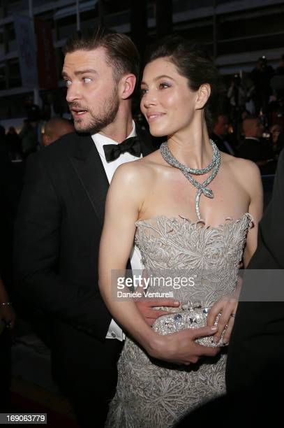 Justin Timberlake and Jessica Biel attend the Premiere of 'Inside Llewyn Davis' at The 66th Annual Cannes Film Festival on May 19 2013 in Cannes...