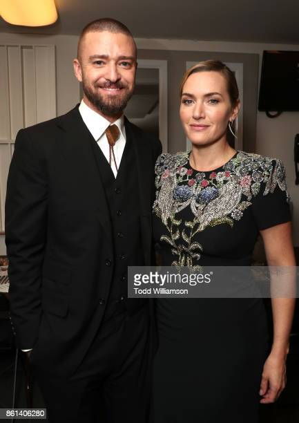 Justin Timberlake and Kate Winslet attend the NYFF premiere of 'Wonder Wheel' at Alice Tully Hall on October 14 2017 in New York City