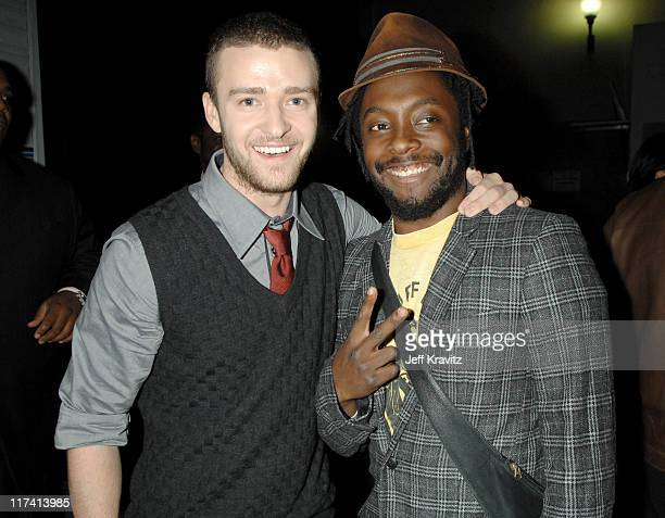 Justin Timberlake and WillIAm during VH1 Big in '06 Backstage and Audience at Sony Studios in Culver City California United States