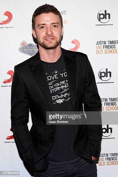 Justin Timberlake arrives at the Justin Timberlake and Friends Old School Jam concert benefiting Shriners Hospitals for Children at the Planet...