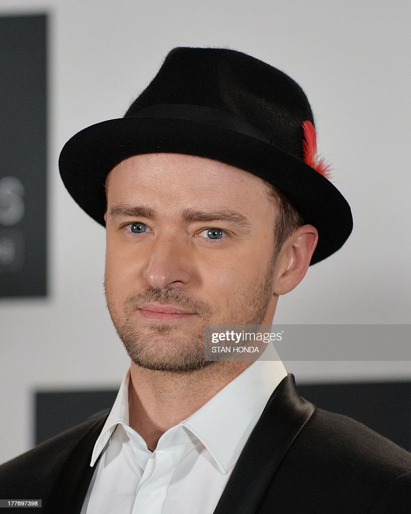 Justin Timberlake at the MTV Video Music Awards August 25, 2013 at the Barclays Center in New York. AFP PHOTO/Stan HONDA