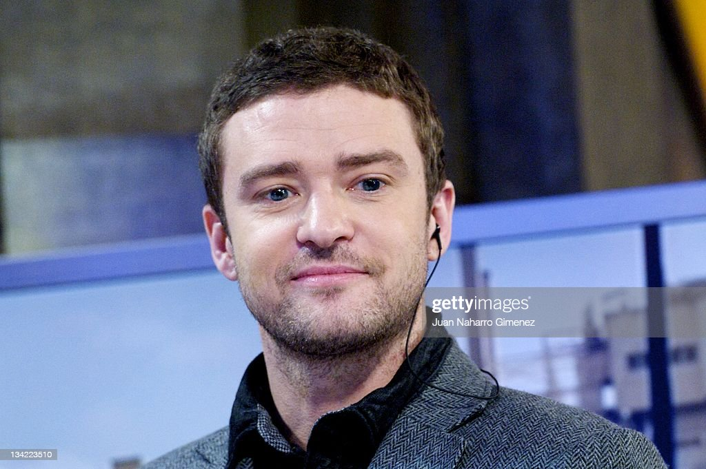 <a gi-track='captionPersonalityLinkClicked' href=/galleries/search?phrase=Justin+Timberlake&family=editorial&specificpeople=157482 ng-click='$event.stopPropagation()'>Justin Timberlake</a> attends 'El Hormiguero' TV show at Vertice Studio on November 28, 2011 in Madrid, Spain.