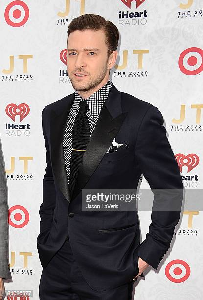 Justin Timberlake attends the '20/20' album release party at El Rey Theatre on March 18 2013 in Los Angeles California