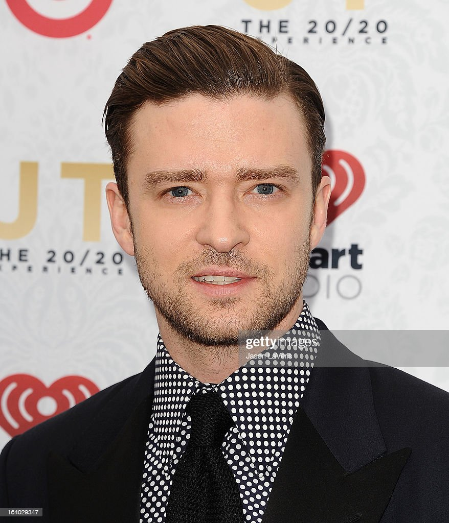 Justin Timberlake attends the '20/20' album release party at El Rey Theatre on March 18, 2013 in Los Angeles, California.