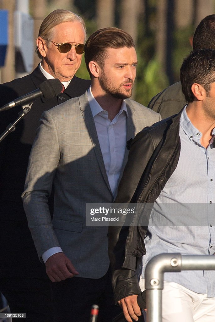 Justin Timberlake attends the 'Le Grand Journal' TV show during the 66th Annual Cannes Film Festival on May 20, 2013 in Cannes, France.