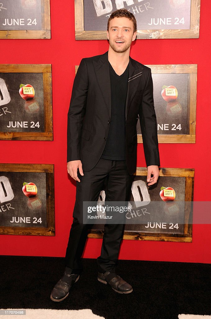 Justin Timberlake attends the New York premiere of 'Bad Teacher' at the Ziegfeld Theatre on June 20, 2011 in New York City.