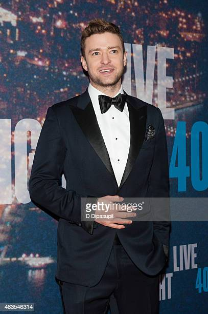 Justin Timberlake attends the SNL 40th Anniversary Celebration at Rockefeller Plaza on February 15 2015 in New York City
