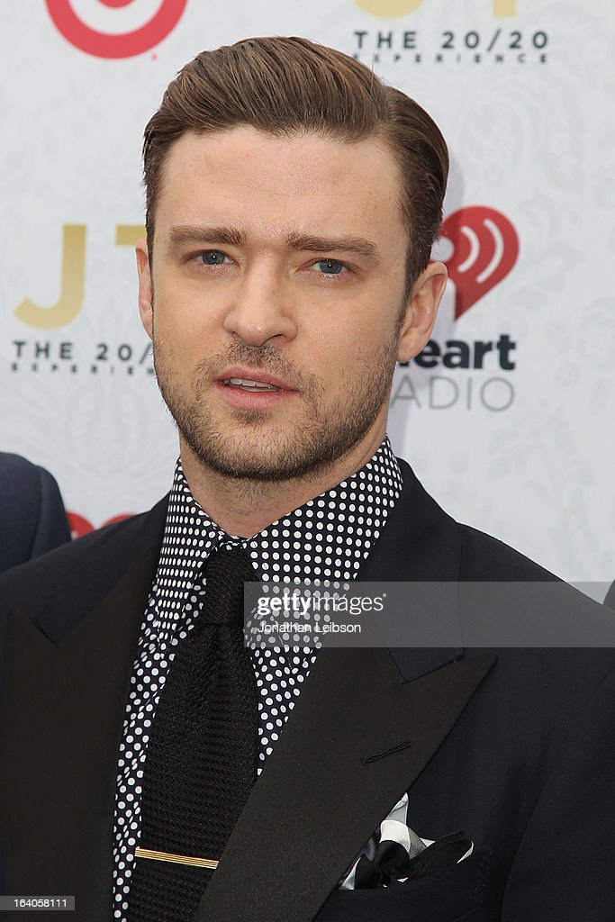 Justin Timberlake attends the Target Presents The iHeartRadio '20/20' Album Release Party With Justin Timberlake at El Rey Theatre on March 18, 2013 in Los Angeles, California.