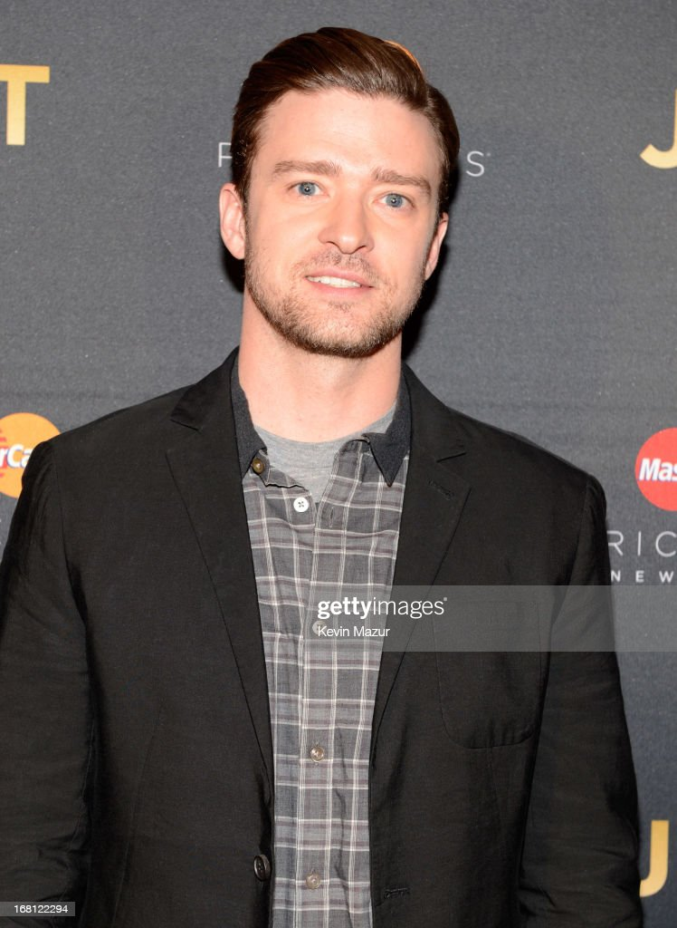 Justin Timberlake backstage during MasterCard Priceless Premieres presents Justin Timberlake at Roseland Ballroom on May 5, 2013 in New York City.
