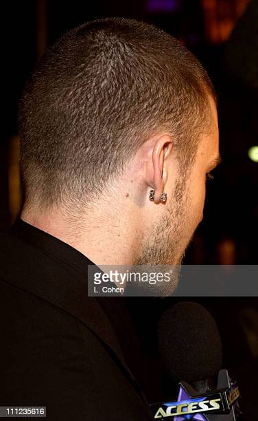 Justin Timberlake during 2003 Clive Davis PreGRAMMY Party Arrivals at The Regent Wall Street in New York City New York United States