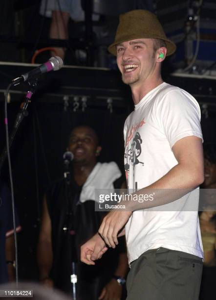 Justin Timberlake during Justin Timberlake in Concert at Irving Plaza Show at Irving Plaza in New York New York United States