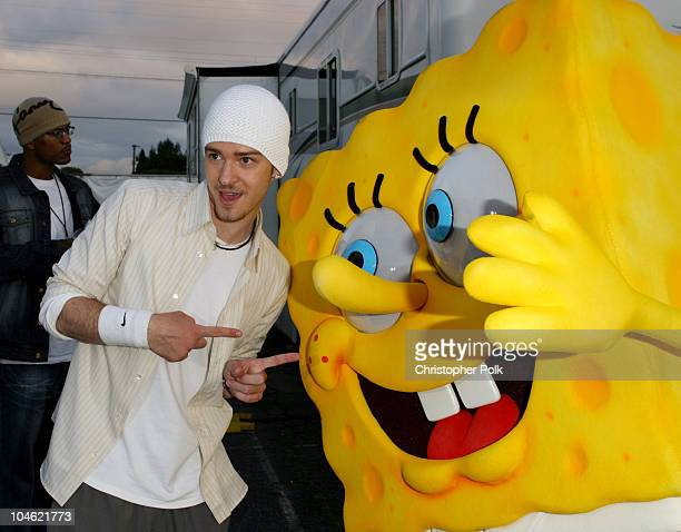 Justin Timberlake during Nickelodeon's 16th Annual Kids' Choice Awards 2003 Backstage at Barker Hangar in Santa Monica CA United States