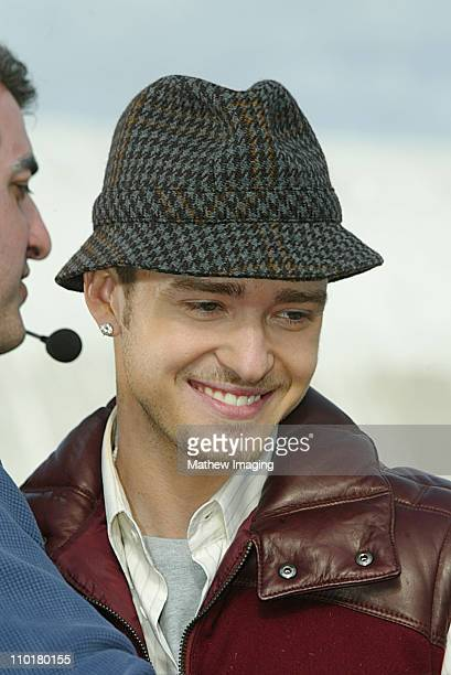 Justin Timberlake during Nickelodeon's 16th Annual Kids' Choice Awards 2003 Arrivals at Barker Hangar in Santa Monica CA United States