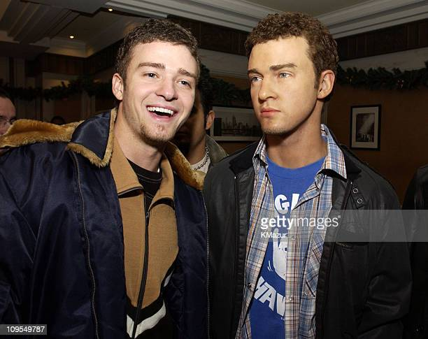 Justin Timberlake during *NSYNC Attend Unveiling of Their Wax Figures at Madame Tussaud's New York at Madame Tussaud's Wax Museum in New York City...