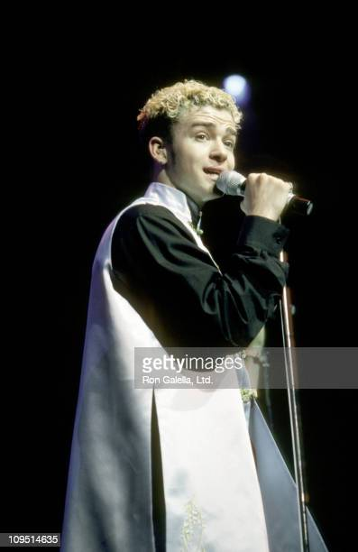 Justin Timberlake during Z100's 5th Annual 'Jingle Ball' December 17 1998 at Madison Square Garden in New York City New York United States