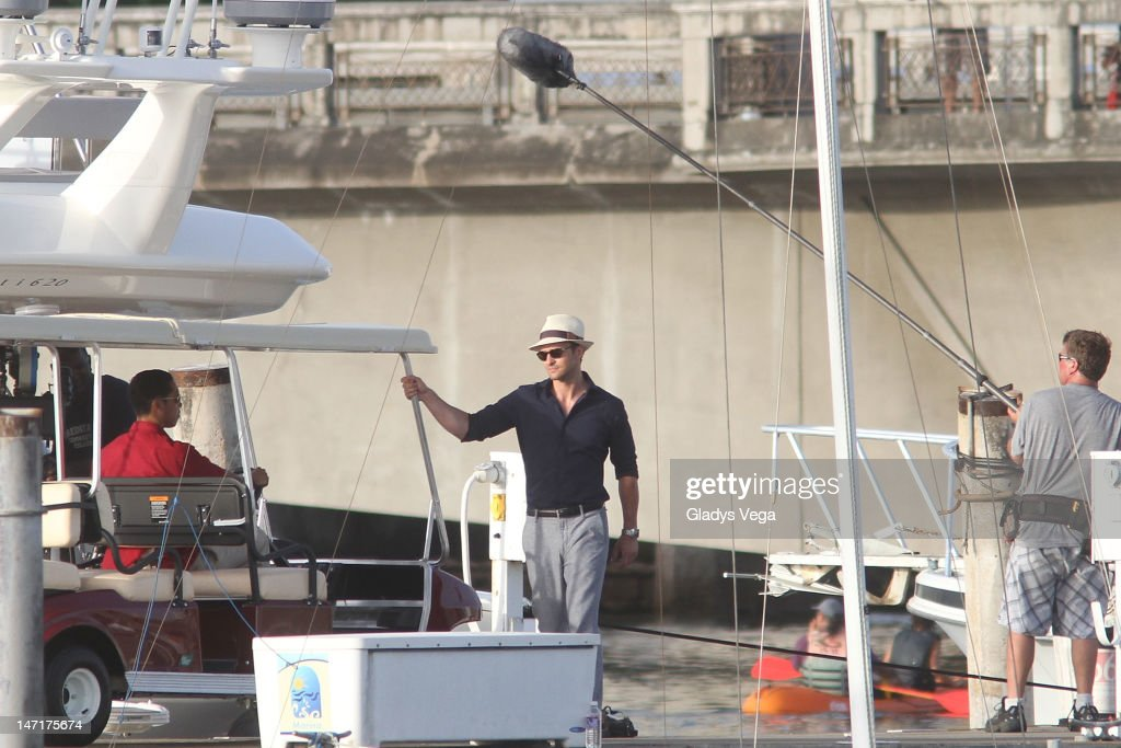 Justin Timberlake filming on location for 'Runner Runner' on June 26 2012 in Club Nautico in San Juan Puerto Rico